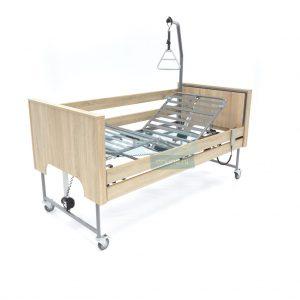 Ecofit S Deluxe Wild Eiken Thuiszorgbed Hoog Laag Bed Seniorenbed Papagaai Zorgbedonline Productfoto